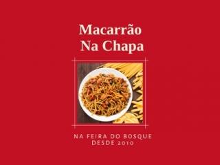 Macarrão Na Chapa